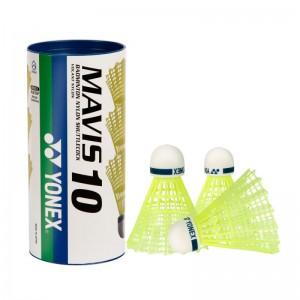 Yonex Mavis 10 1/3, srednja hitrost (modre), rumene barve.