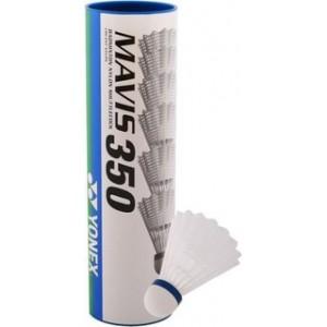 Yonex Mavis 350 1/6, srednja hitrost (modre), bele barve.